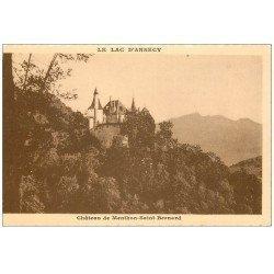 carte postale ancienne 74 LAC ANNECY. Château Menthon-Saint-Bernard