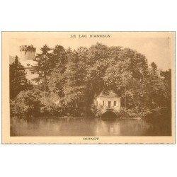 carte postale ancienne 74 LAC ANNECY. Duingt