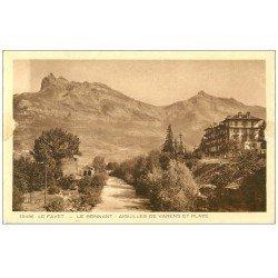 carte postale ancienne 74 LE FAYET. Le Bonnant. Aiguiles Varens et Platé 1934