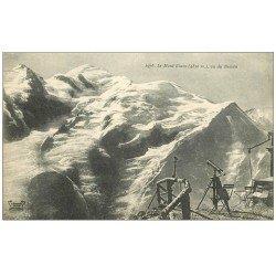 carte postale ancienne 74 LE MONT BLANC. Vu du Bréven lunette astronomique