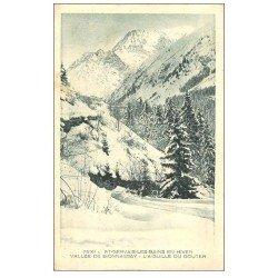 carte postale ancienne 74 SAINT-GERVAIS-LES-BAINS. Bionnassay Aiguille du Gouter 1938