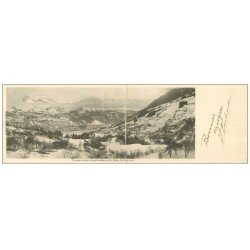 carte postale ancienne 74 SAINT-GERVAIS-LES-BAINS. Carte Panoramique Chaîne des Fiz 1908