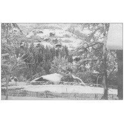carte postale ancienne 74 SAINT-GERVAIS-LES-BAINS. Carte Photo Paysage sous la neige 1928