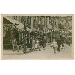 carte postale ancienne 74 SAINT-GERVAIS-LES-BAINS. Carte Photo rare. La vogue à Saint-Gervais 1929 jour de Fête