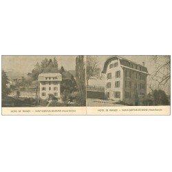 carte postale ancienne 74 SAINT-GERVAIS-LES-BAINS. Carte&uml Papier Publicitaire Hôtel de France. Très fine