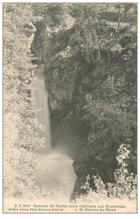 carte postale ancienne 74 SAINT-GERVAIS-LES-BAINS. Cascade de Combe noire Contamines