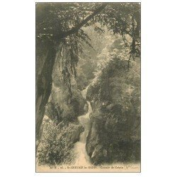 carte postale ancienne 74 SAINT-GERVAIS-LES-BAINS. Cascade de Crépin. Edition Bourrey