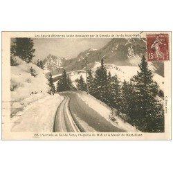 carte postale ancienne 74 SAINT-GERVAIS-LES-BAINS. Col Voza et Aiguille du Midi 1931