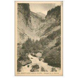 carte postale ancienne 74 SAINT-GERVAIS-LES-BAINS. Gorges de la Gruvaz