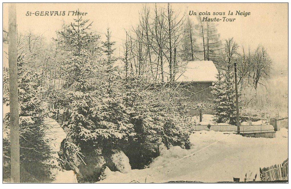 carte postale ancienne 74 SAINT-GERVAIS-LES-BAINS. Haute-Tour
