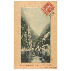 carte postale ancienne 74 SAINT-GERVAIS-LES-BAINS. Pont du Diable 1908