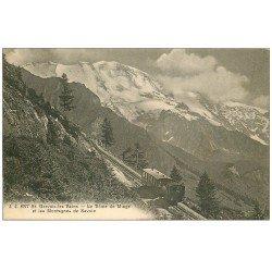 carte postale ancienne 74 SAINT-GERVAIS-LES-BAINS. Train à crémaillière Dôme de Miage