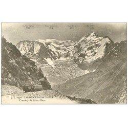 carte postale ancienne 74 SAINT-GERVAIS-LES-BAINS. Tramway du Mont Blanc. Timbre rare Orléans de 50 Centimes 1929