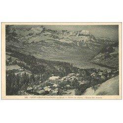 carte postale ancienne 74 SAINT-GERVAIS-LES-BAINS. Vallée de l'Arve 1930 Chaîne Arravis