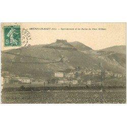 carte postale ancienne 01 Ambérieu-en-Bugey. Saint-Germain et Ruines du Château 1909