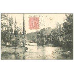 carte postale ancienne 14 CLECY. L'Orne au Vey 1905