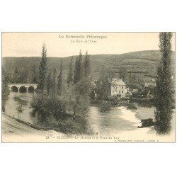 carte postale ancienne 14 CLECY. Moulin et pont du Vay Vey