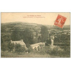 carte postale ancienne 14 CLECY. Panorama du Vey 1913