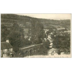 carte postale ancienne 14 CLECY. Panorama du Vey 1923