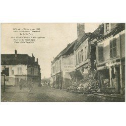 carte postale ancienne 02 FERE-EN-TARDENOIS. Place de la Republique 1919
