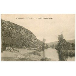 carte postale ancienne 14 CLECY. Rocher du Vey