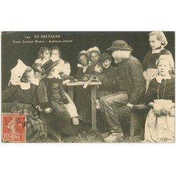 carte postale ancienne LA BRETAGNE. Vieux Conteur Breton 1908