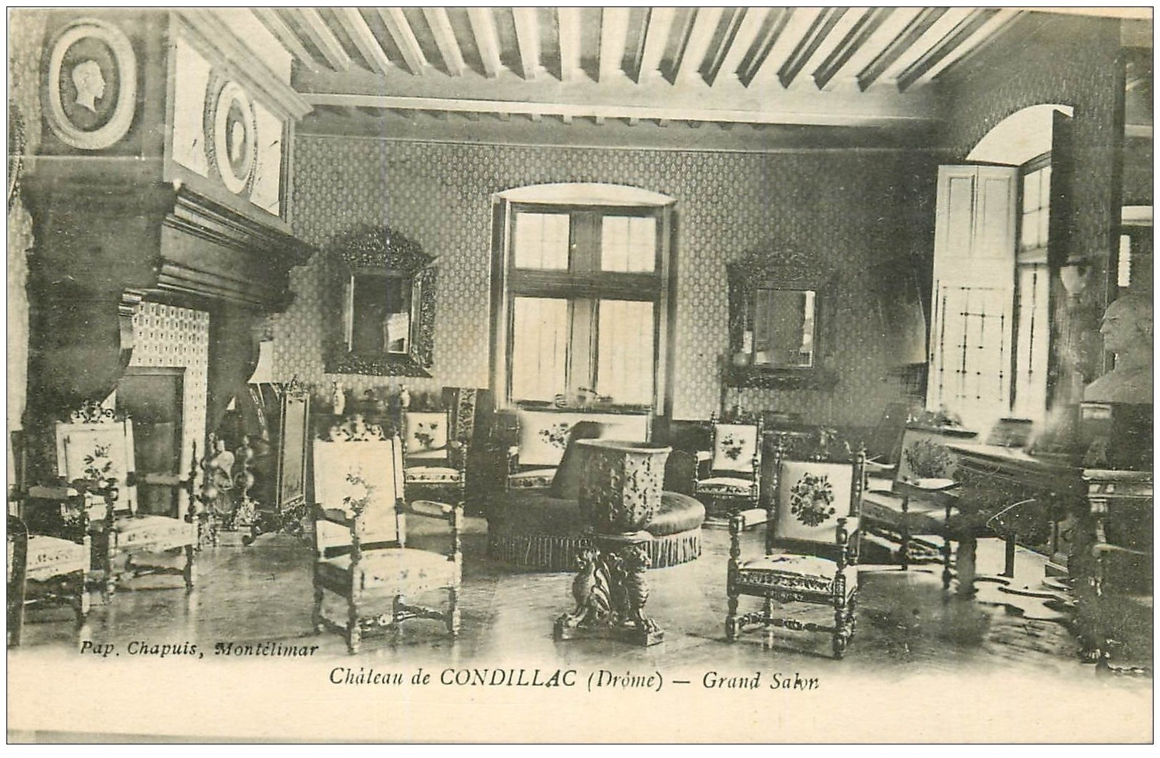 26 chateau de condillac grand salon for Salon carte postale