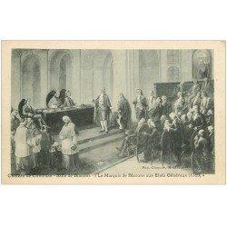 carte postale ancienne 26 CHATEAU DE CONDILLAC. Salle de Blacons. Le Marquis aux Etats Généraux en 1789