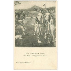 carte postale ancienne 26 CHATEAU DE CONDILLAC. Salle Priam. Le Jugement de Pâris