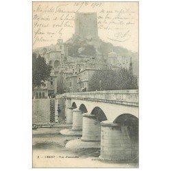carte postale ancienne 26 CREST. Le Pont 1903