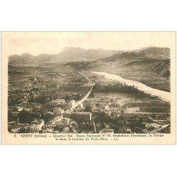 carte postale ancienne 26 CREST. Orphelinat Protestant Route Nationale 93. Les Trois-Becs