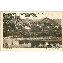 carte postale ancienne 26 DIE. Vue générale 1938. Timbre absent