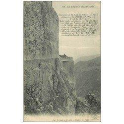 carte postale ancienne 26 FORET DE LENTE. Attelage Route de Combe-Laval 1915