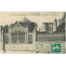 carte postale ancienne 26 LA BEGUDE-DE-MAZENC. Grille Château de Loubet