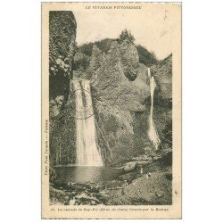 carte postale ancienne 26 LA CASCADE DU RAY formée par la Bourge 1935 petite animation