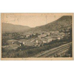 carte postale ancienne 26 LUC-EN-DIOIS. Village et ligne du Chemin de Fer