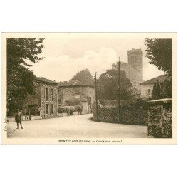 carte postale ancienne 26 MONTELIER. Soldat au Carrefour Central