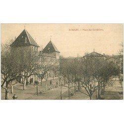 carte postale ancienne 26 ROMANS. Place des Cordeliers