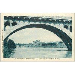 carte postale ancienne 26 ROMANS-SUR-ISERE. Cathédrale Saint-Barnard et les Ponts