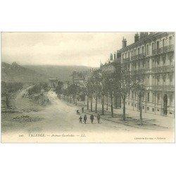 carte postale ancienne 26 VALENCE. Avenue Gambetta et Nouveau Pont en travaux 1905