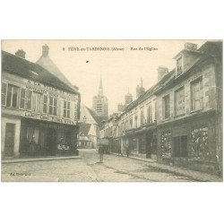 carte postale ancienne 02 FERE-EN-TARDENOIS. Rue de l'Eglise 1917