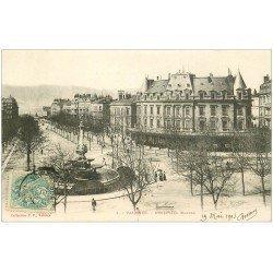 carte postale ancienne 26 VALENCE. Boulevard Bancel en 1903. Collection P.P