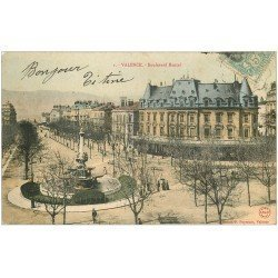 carte postale ancienne 26 VALENCE. Boulevard Bancel vers 1905