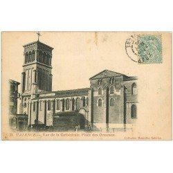 carte postale ancienne 26 VALENCE. Cathédrale Place des Ormeaux 1905