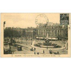 carte postale ancienne 26 VALENCE. Fontaine Boulevard Bancel 1931