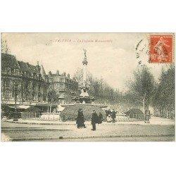 carte postale ancienne 26 VALENCE. La Fontaine Monumentale 1921