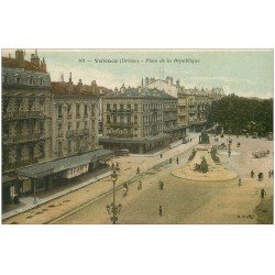 carte postale ancienne 26 VALENCE. Place de la République. A La Porte Neuve
