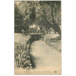 carte postale ancienne 26 VALENCE. Pont Rustique Parc Jouvet