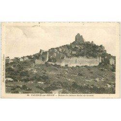 carte postale ancienne 26 VALENCE-SUR-RHONE. Ruines Château de Crussol 1933