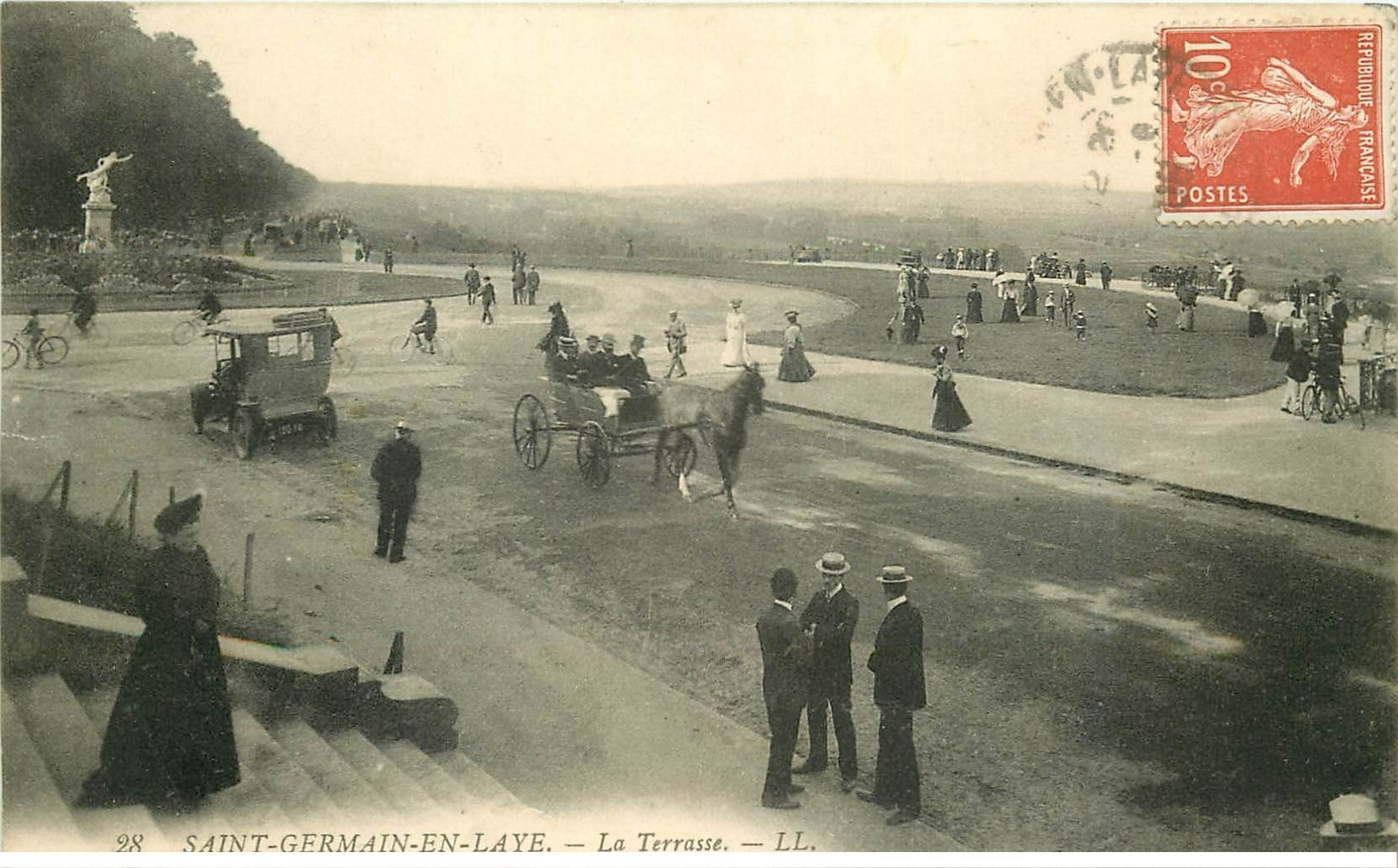 carte postale ancienne Lot de 19 CPA SAINT-GERMAIN-EN-LAYE 78. Série B